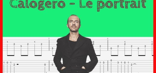 le-portrait-calogero-guitare-tablature