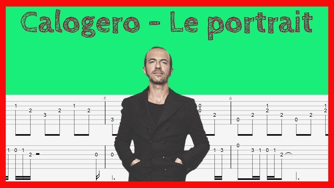 le-portrait-calogero-guitare-tablature